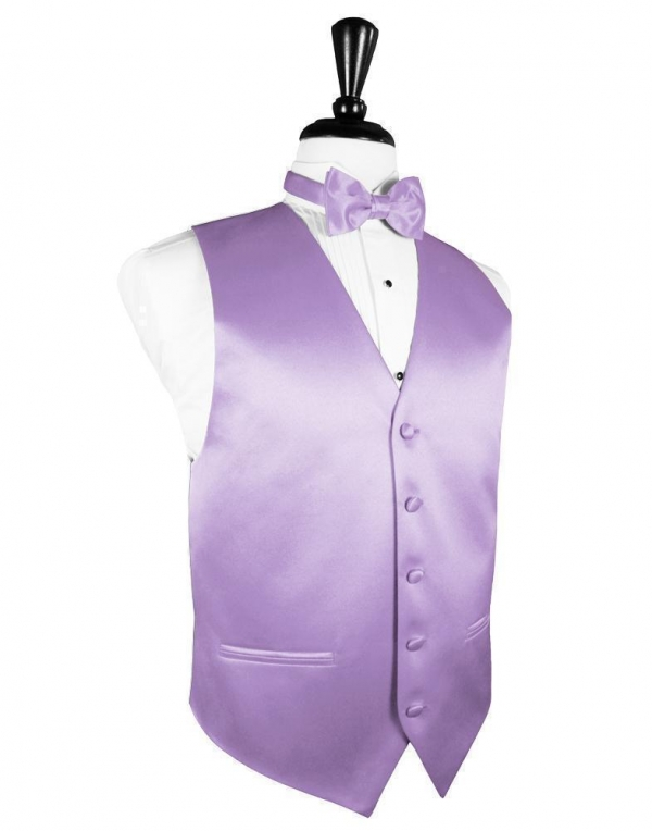 Heather Luxury Satin Tuxedo Vest