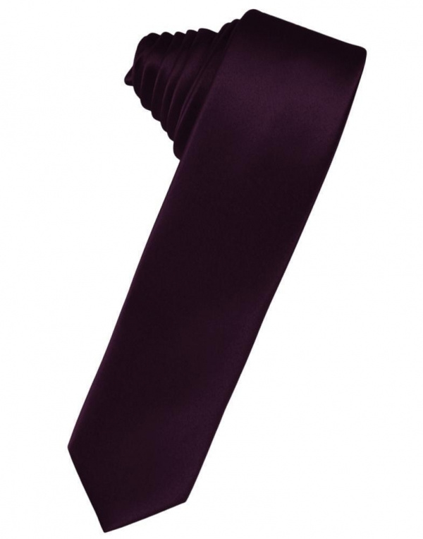 Blush Luxury Satin Skinny Necktie
