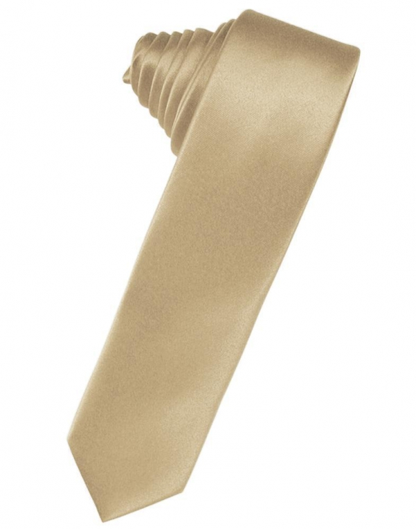 Harvest Maize Luxury Satin Skinny Necktie