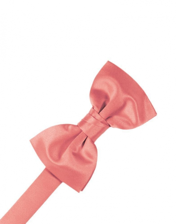 Guava Luxury Satin Bow Tie