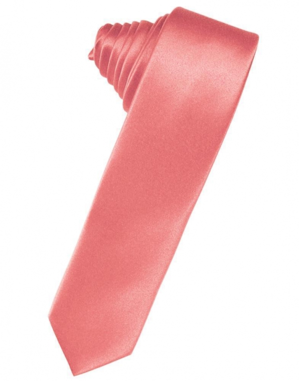 Heather Luxury Satin Skinny Necktie