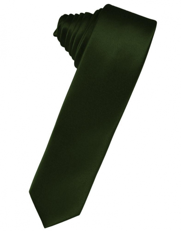 Ivory Luxury Satin Skinny Necktie