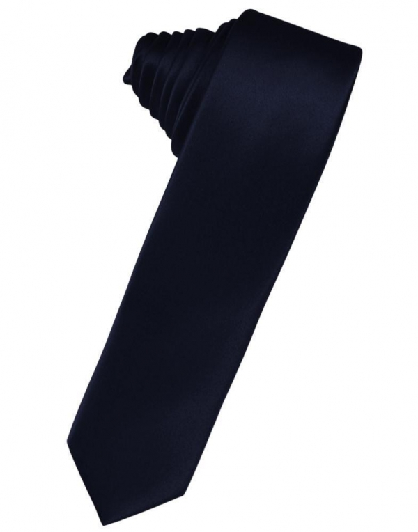 Mist Luxury Satin Skinny Necktie