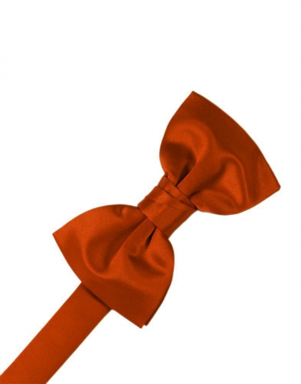 Persimmon Luxury Satin Bow Tie