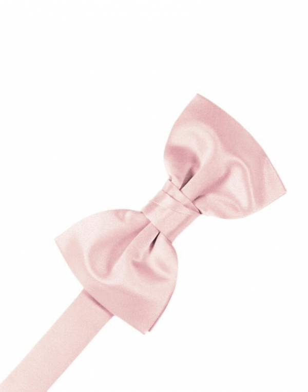 Pink Luxury Satin Bow Tie