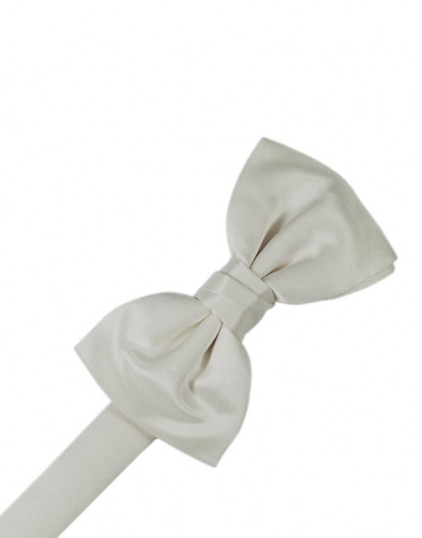 Platinum Luxury Satin Bow Tie