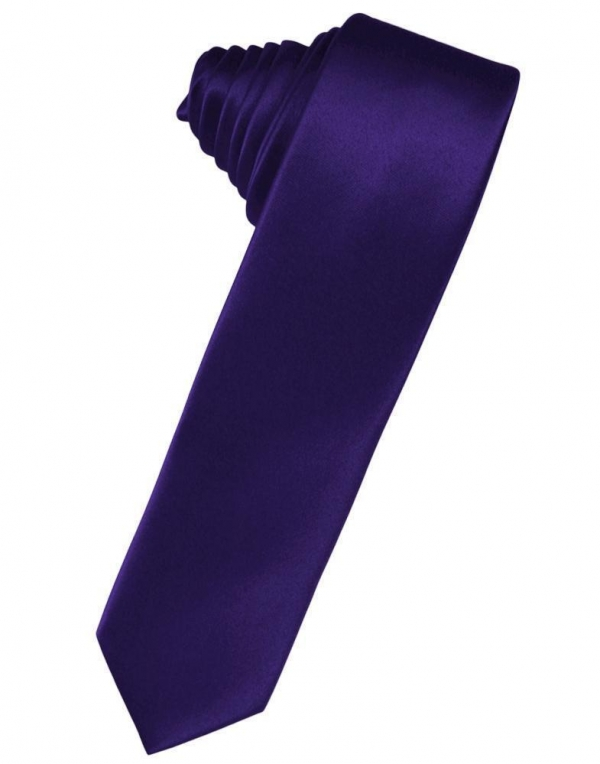 Royal Blue Luxury Satin Skinny Necktie