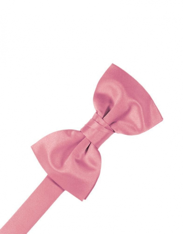 Rose Petal Luxury Satin Bow Tie