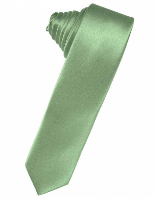 Sea Glass Luxury Satin Skinny Necktie