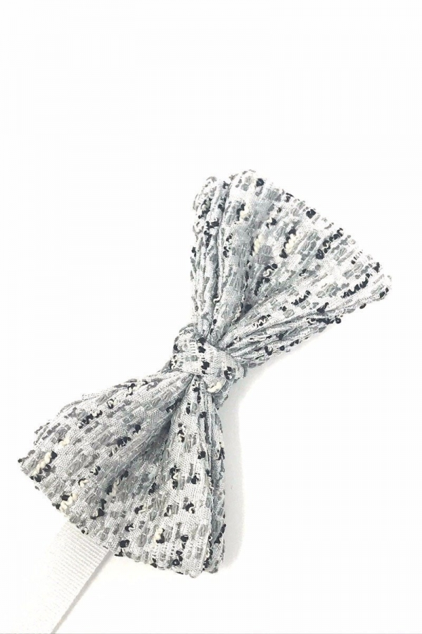 Silver Laurent Bow Tie