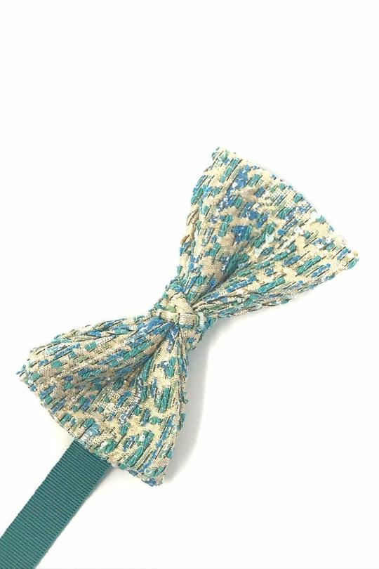 Teal Laurent Bow Tie
