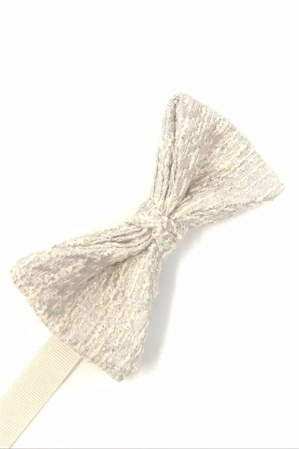 Winter White Laurent Bow Tie