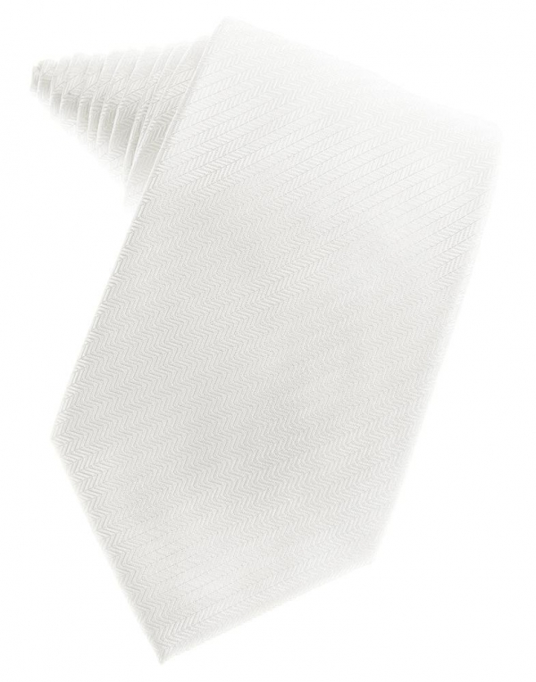 Diamond White Herringbone Necktie