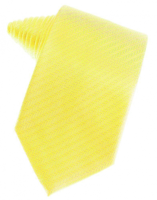 Lemon Herringbone Necktie